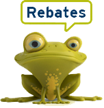 Rebate frog